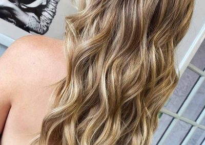 soft, brownish hair color